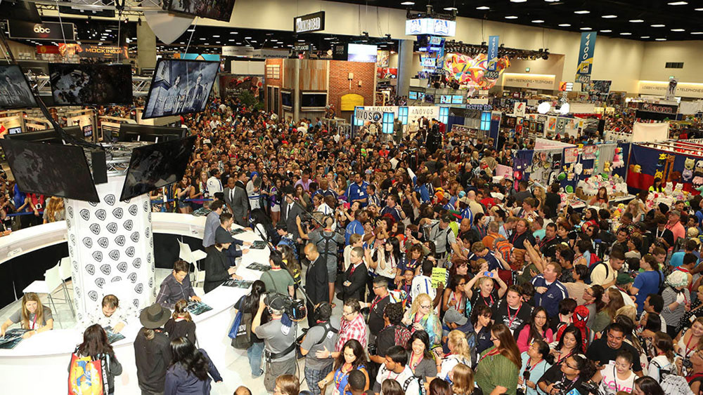 Large Group of People in Convention Center