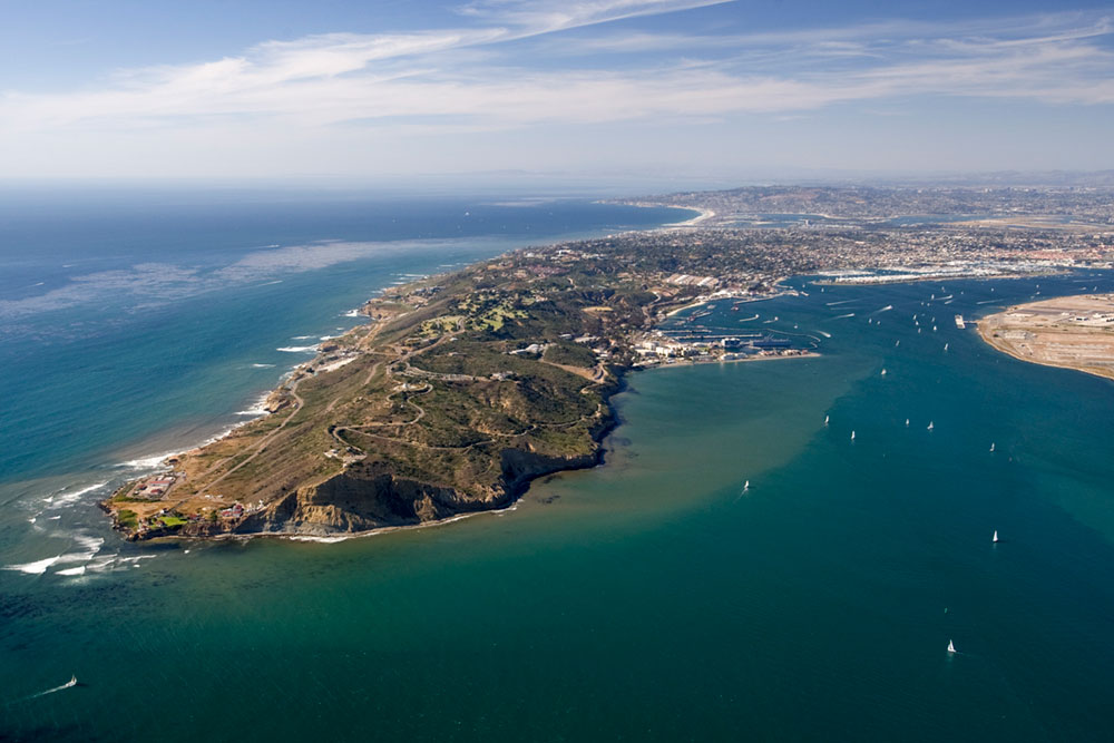 Aerial View of Harbor in San Diego California