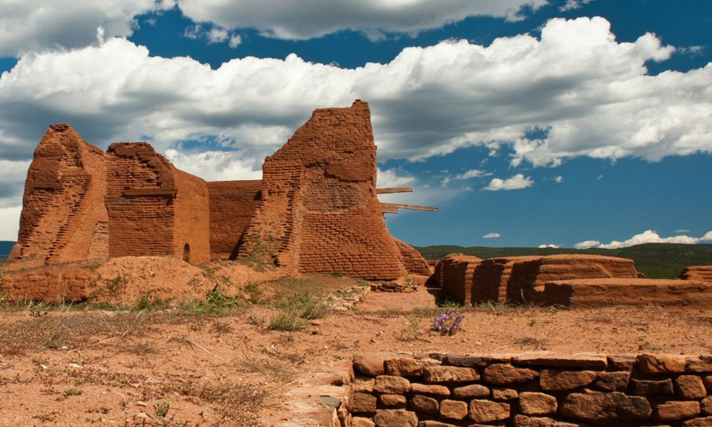 Historic Ruins Made From Red Sandstone