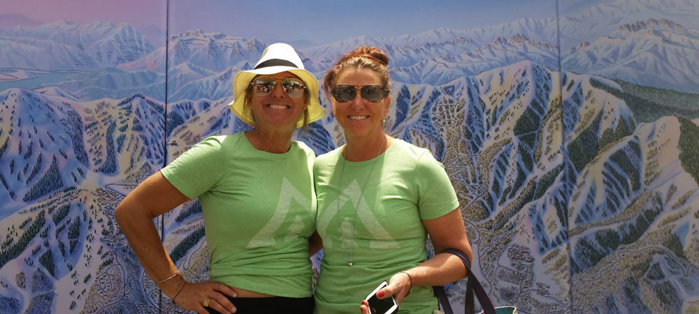 Ladies Smiling in Stay Park City T-shirts