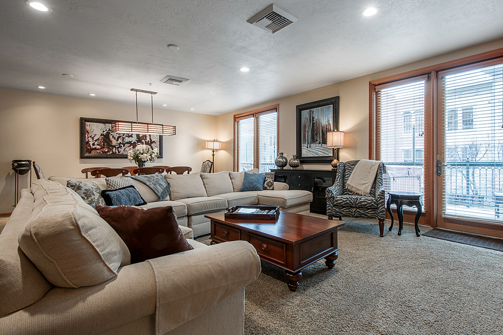 Living Room at the Caledonian Hotel on Main Street Park City