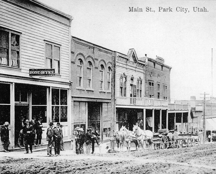 Archival image of Main Street Park City
