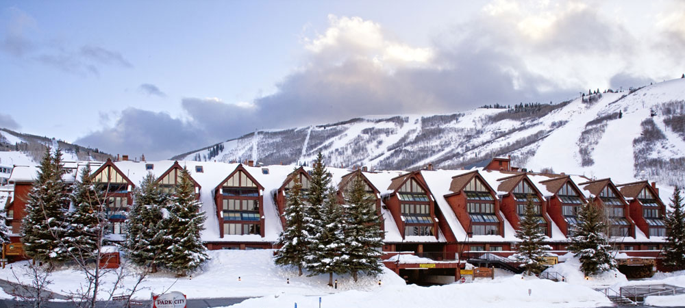 The Lodge at the Mountain Village Covered in Snow