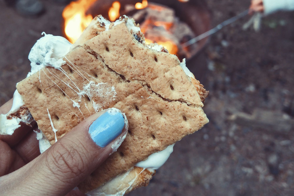 s'mores are a perfect Park City fall treat