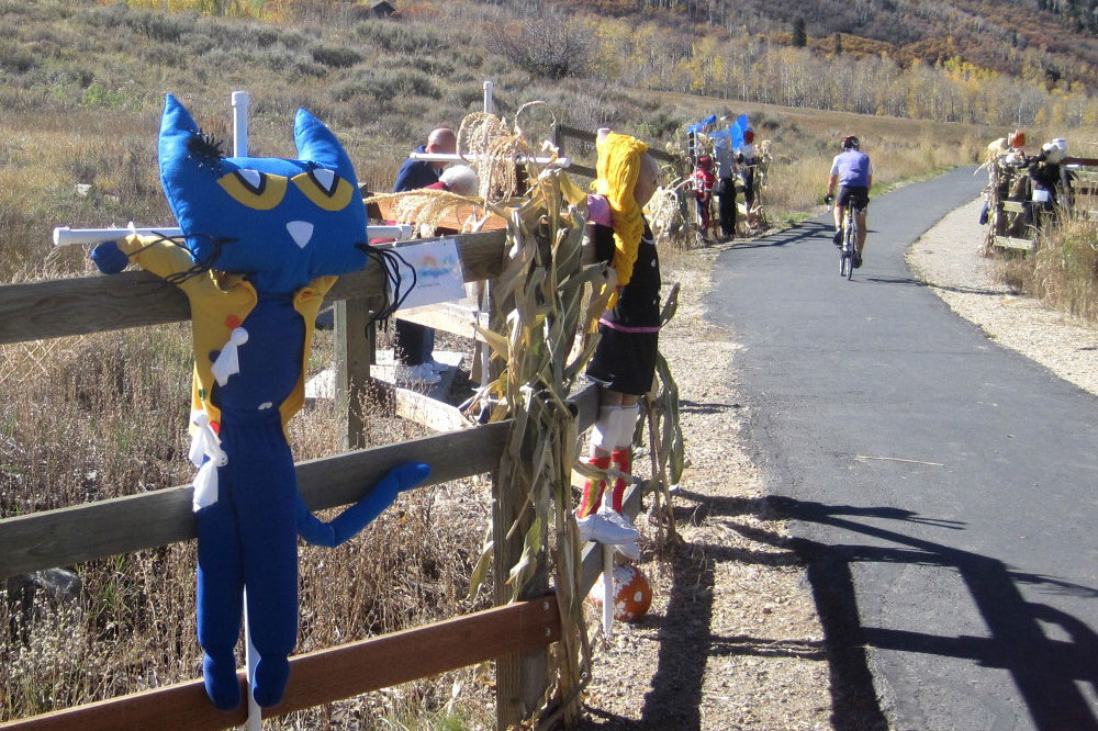 scarecrow festival during park city fall