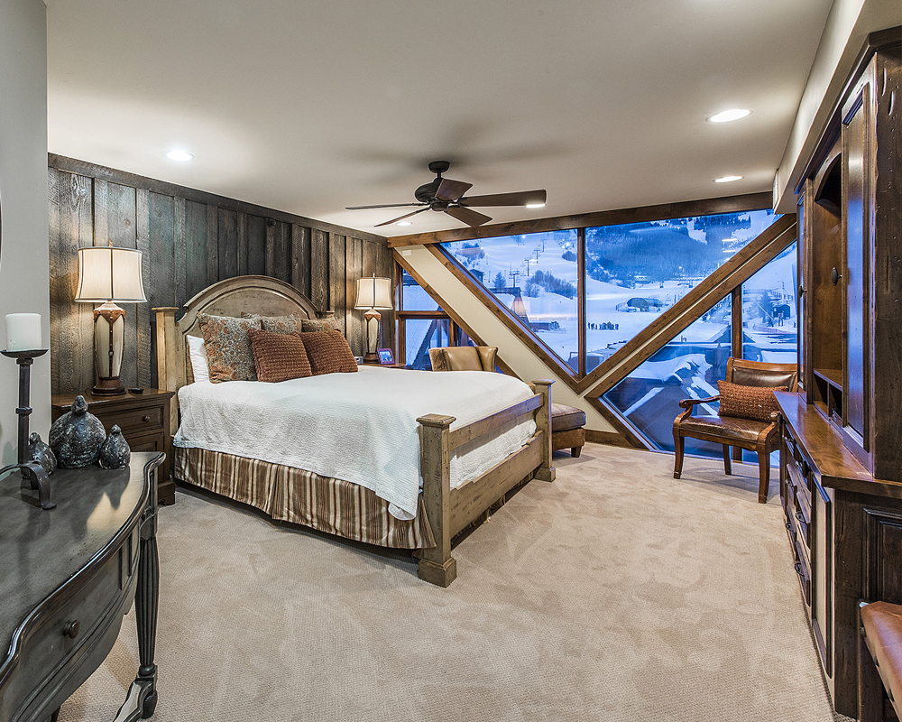 Interior Bedroom of the Penthouse Suite at the Lodge at the Mountain Village in Park City Utah