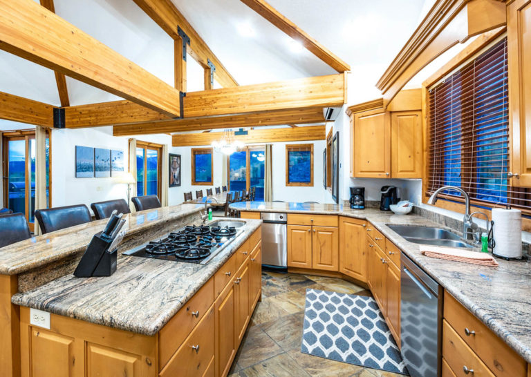 Large Kitchen at Bear Hollow Private Home in Park City Utah