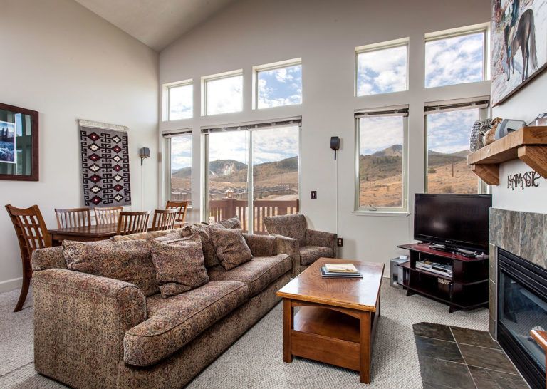 Living Room at Crestview Condominiums in Park City Utah
