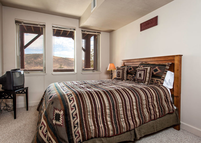 Bedroom at Crestview Condominiums in Park City Utah