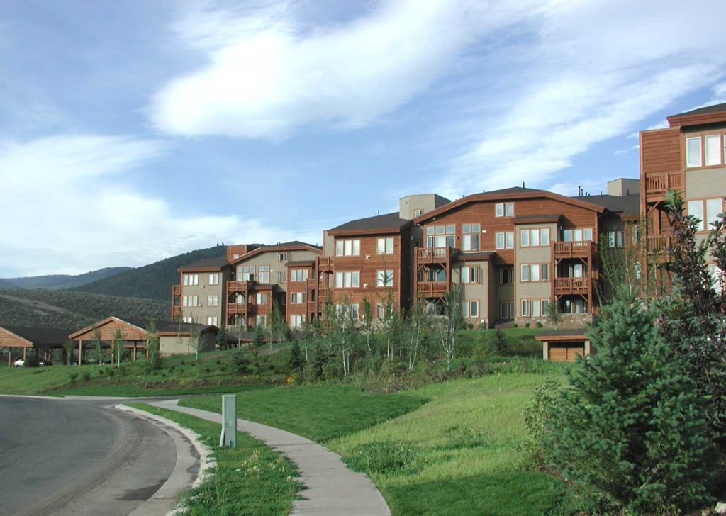 Building Exterior at Crestview Condominiums in Park City Utah