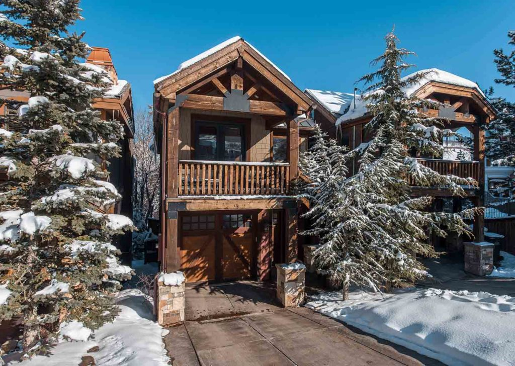 Winter Exterior at Empire Home in Park City Utah