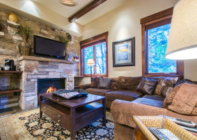Living Room at Empire Home in Park City Utah
