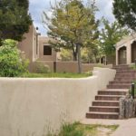 Outdoor Walkway and Steps to Buildings at Fort Marcy Hotel Suites in Santa Fe, New Mexico