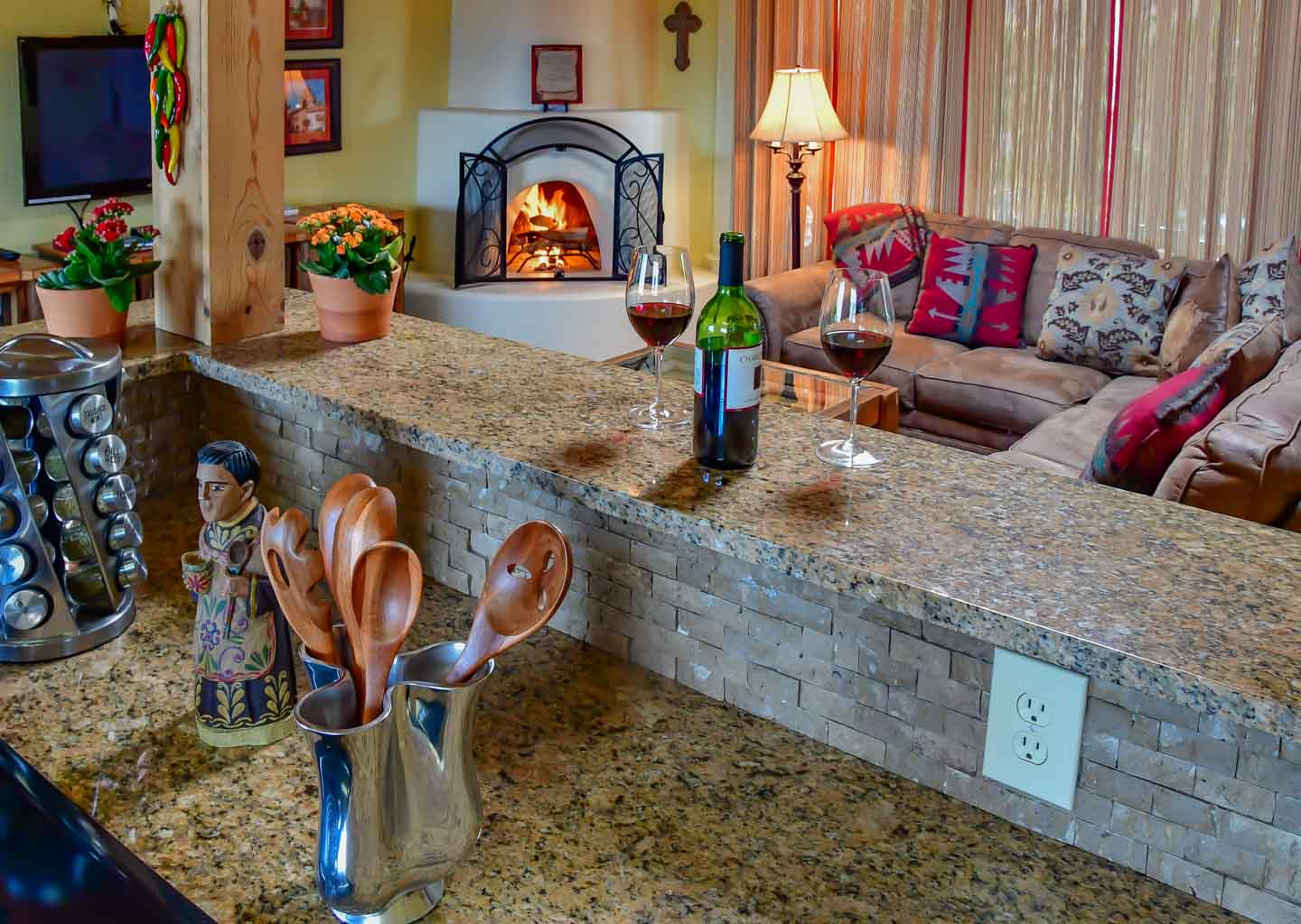 Kitchen at Fort Marcy Hotel Suites in Santa Fe, New Mexico