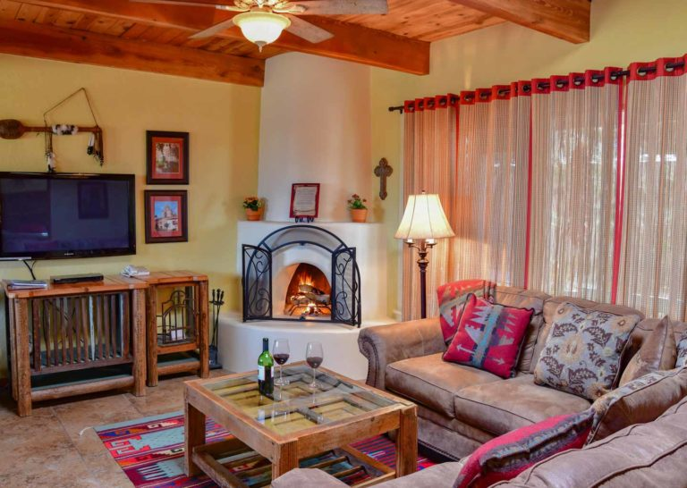 Living Room at Fort Marcy Hotel Suites in Santa Fe New Mexico