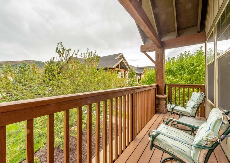 Balcony at Fox Point at Redstone in Kimball Junction