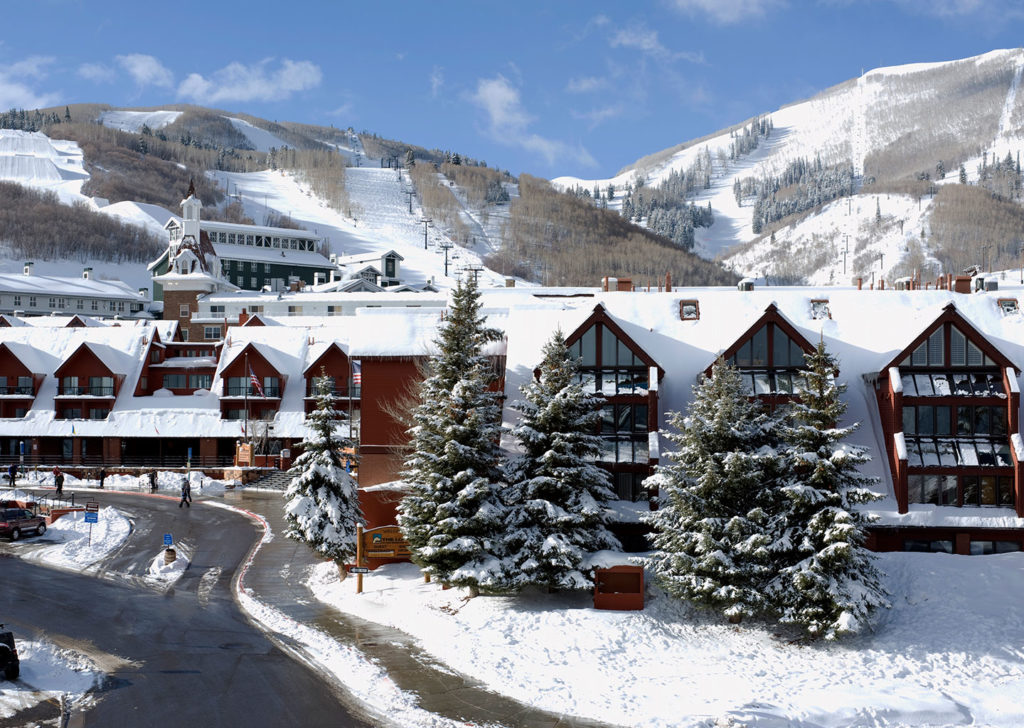 Winter Exterior at the Lodge at the Mountain Village in Park City Utah