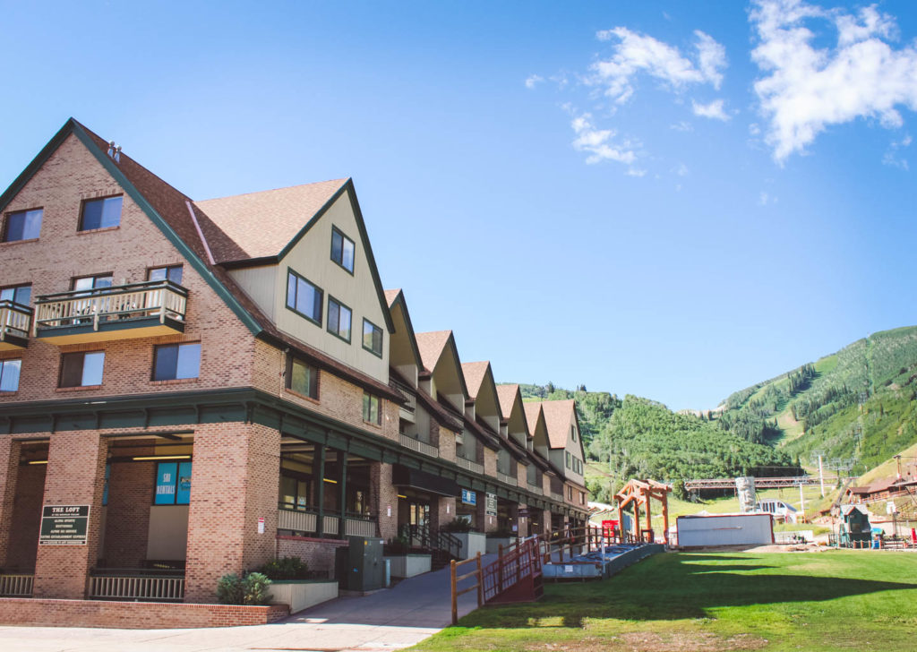 The Loft at the Mountain Village Summer Exterior View