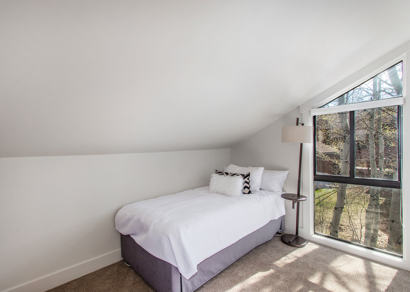 Twin Bed in Lofted Space at Three Kings Condominiums in Downtown Park City, Utah