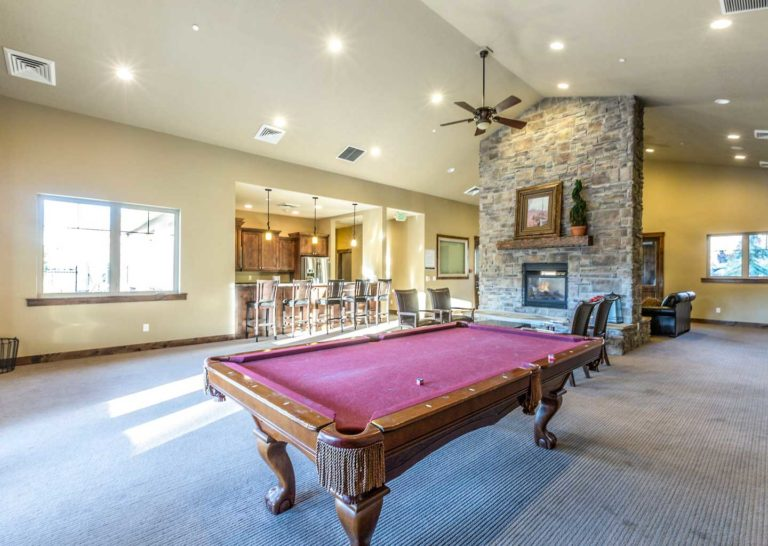 Pool Table at Clubhouse at Parks Edge Townhomes in Park City, Utah