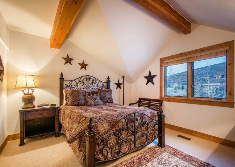 Bedroom at Portico Townhome in Park City Utah