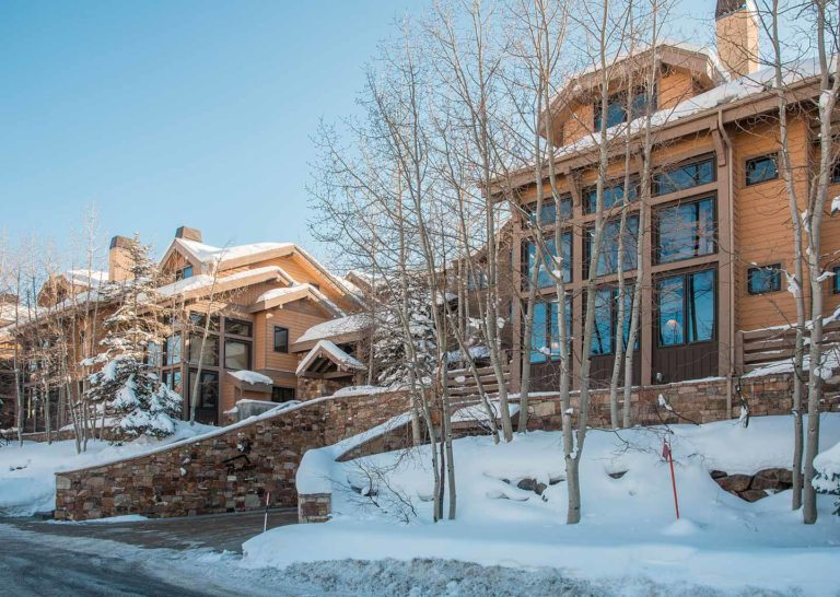 Winter Exterior at Portico Townhome in Park City Utah