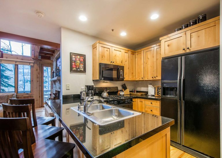 Kitchen at Portico Townhome in Park City Utah