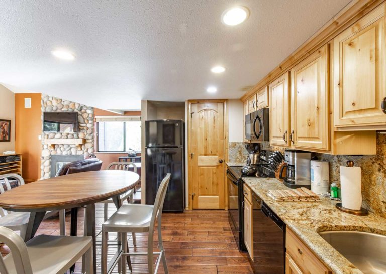 Kitchen at Red Pine Condominiums in Park City, Utah