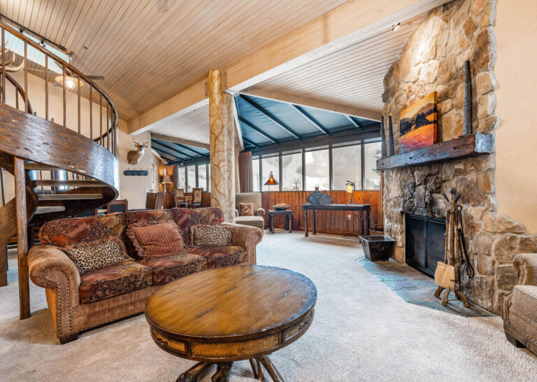 3-Bedroom Condo with Spiral Staircase at Silver King in Park City, Utah