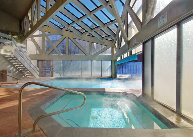 Heated Pool and Hot Tub at Silver King Hotel in Park City, Utah