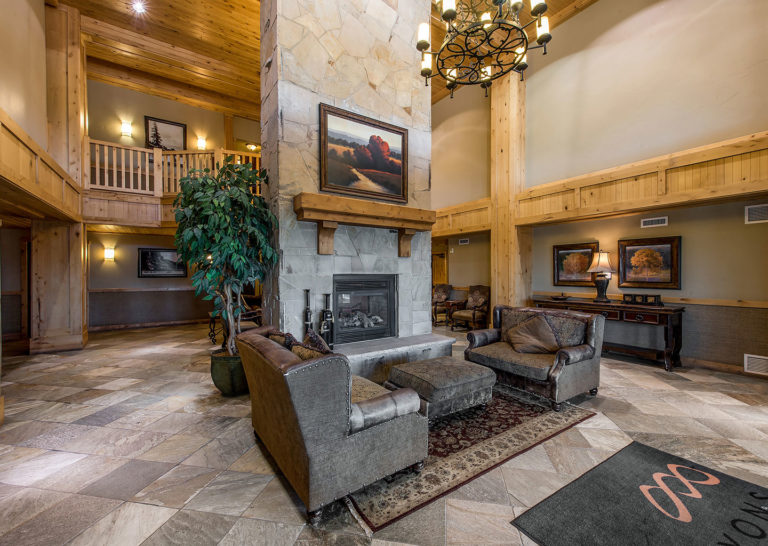 Lobby of Silverado Lodge in Canyons Village