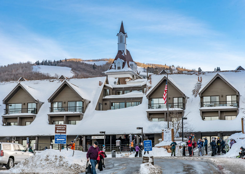 Exterior Winter Image of The Lodge at the Mountain Village in Park City, Utah