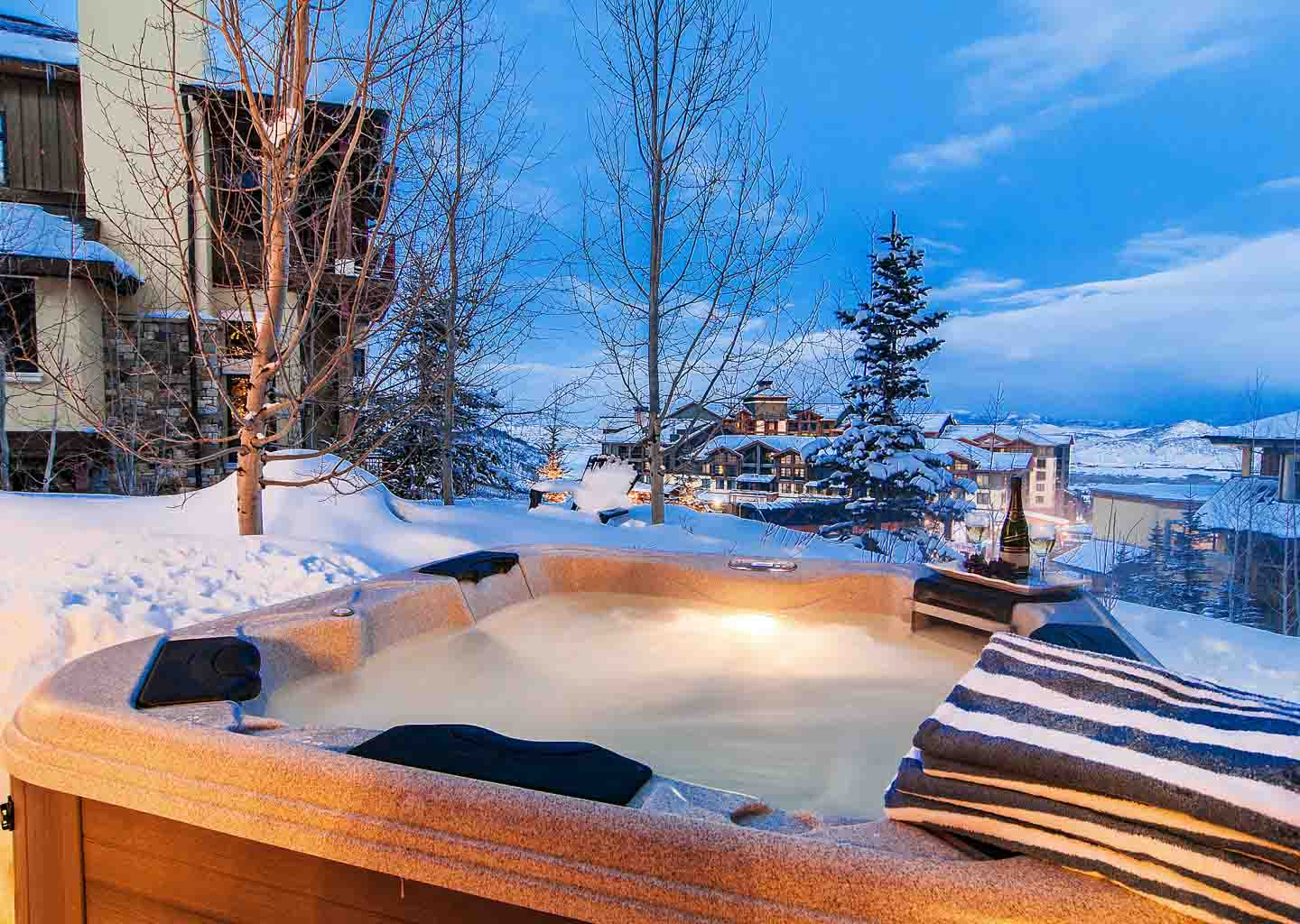 Hot Tub at Vintage on the Strand in Park City Utah