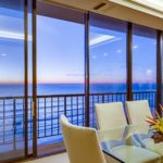 Dining Room Table Overlooking the Ocean at Capri by the Sea in Park City Utah