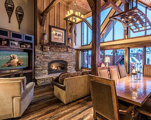 Living Room at the Penthouse Suite at the Lodge at the Mountain Village