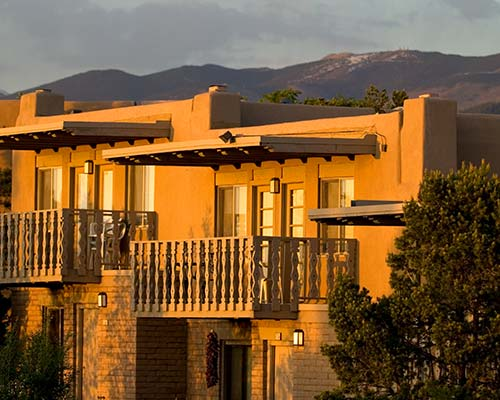 Exterior of Fort Marcy Hotel Suite in Santa Fe New Mexico