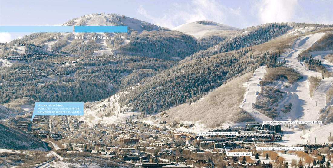 Downtown View of Park City in Winter