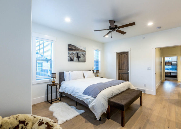 Master Suite at Parks Edge Townhomes in Park City, Utah