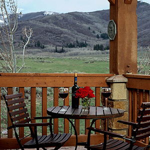 Porch Overlooking Mountains
