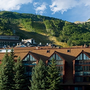 Summer Exterior Building View of The Lodge at the Mountain Village in Park City Utah