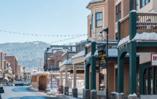 Exterior View of Town Lift Condominiums on Historic Main Street in Park City Utah