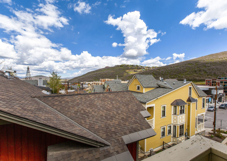 View of Downtown Neighborhood Homes and Hillside of Downtown Park City, Utah