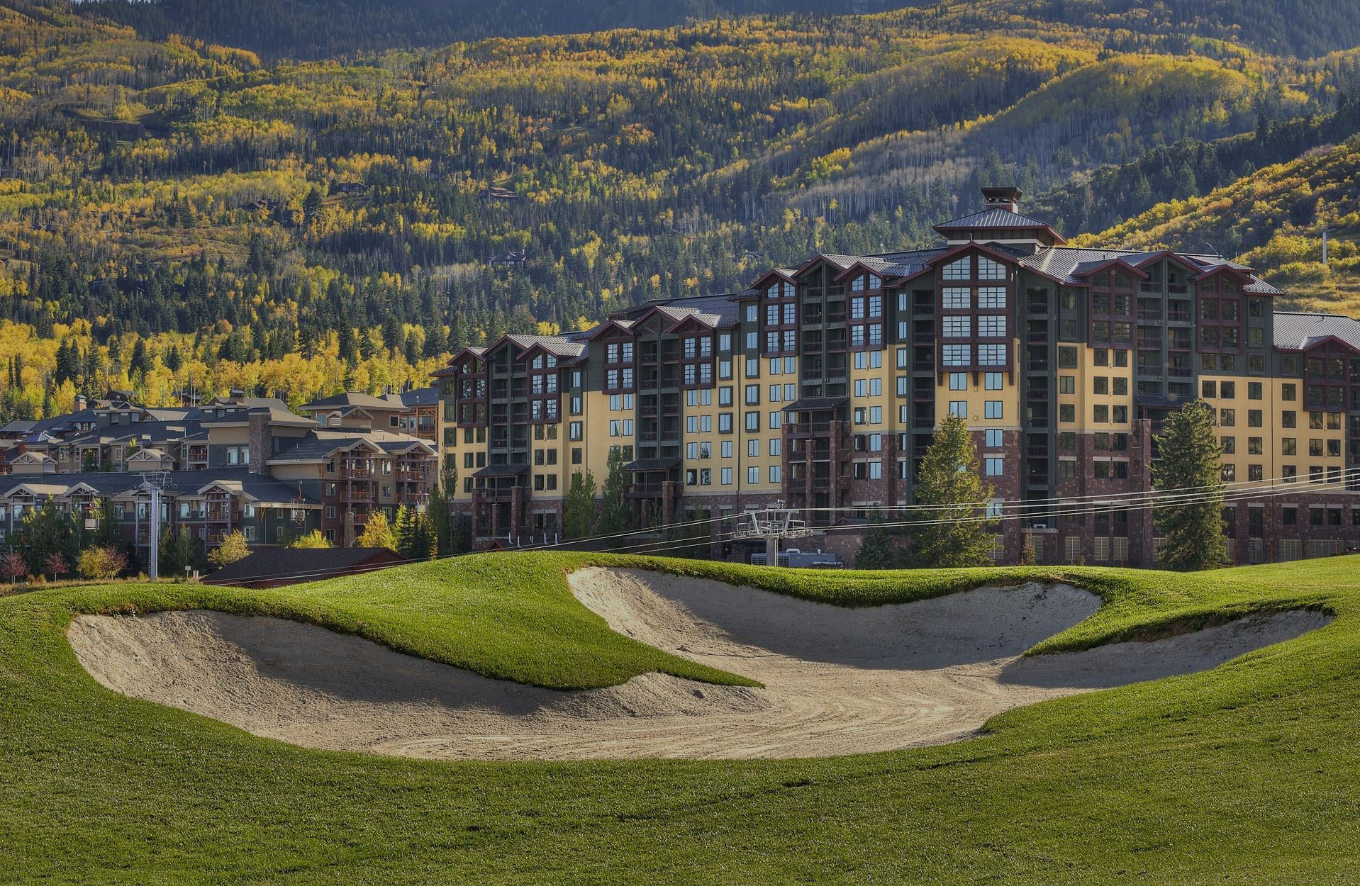 Exterior View of Gold Course and Westgate Park City Building