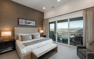 Master Bedroom with Mountain Views at Apex Residences in Park City Utah