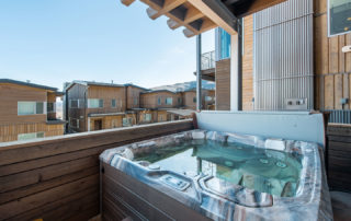 Hot Tub on the Balcony of Apex Residences in Park City Utah
