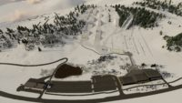 Woodward Park City Ski Winter Aerial View