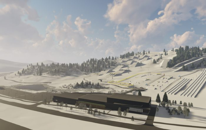 Woodward Park City Ski and Snowboard Ramps Far View