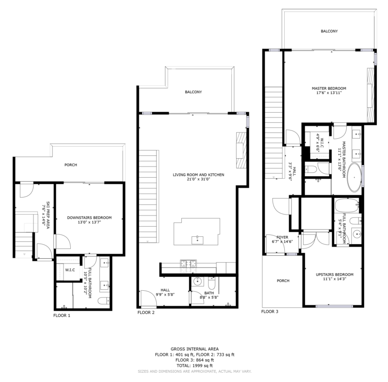 Floorplan for 1001 Apex