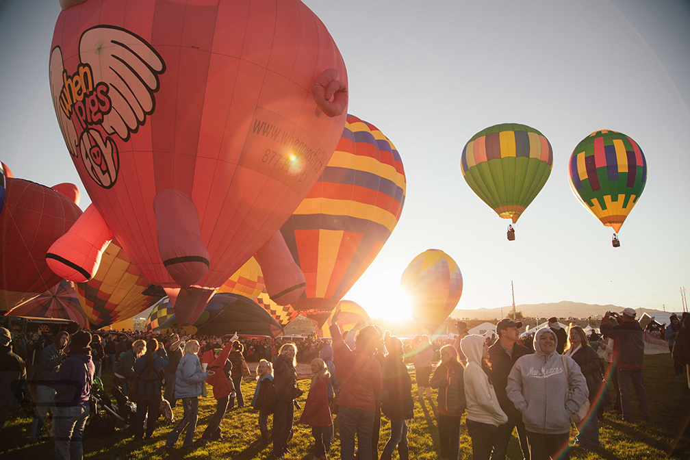 Hot Air Balloons In Morning