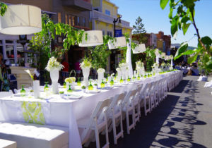 Long White Table on Main Street Park City for Annual Festival, Savor The Summit